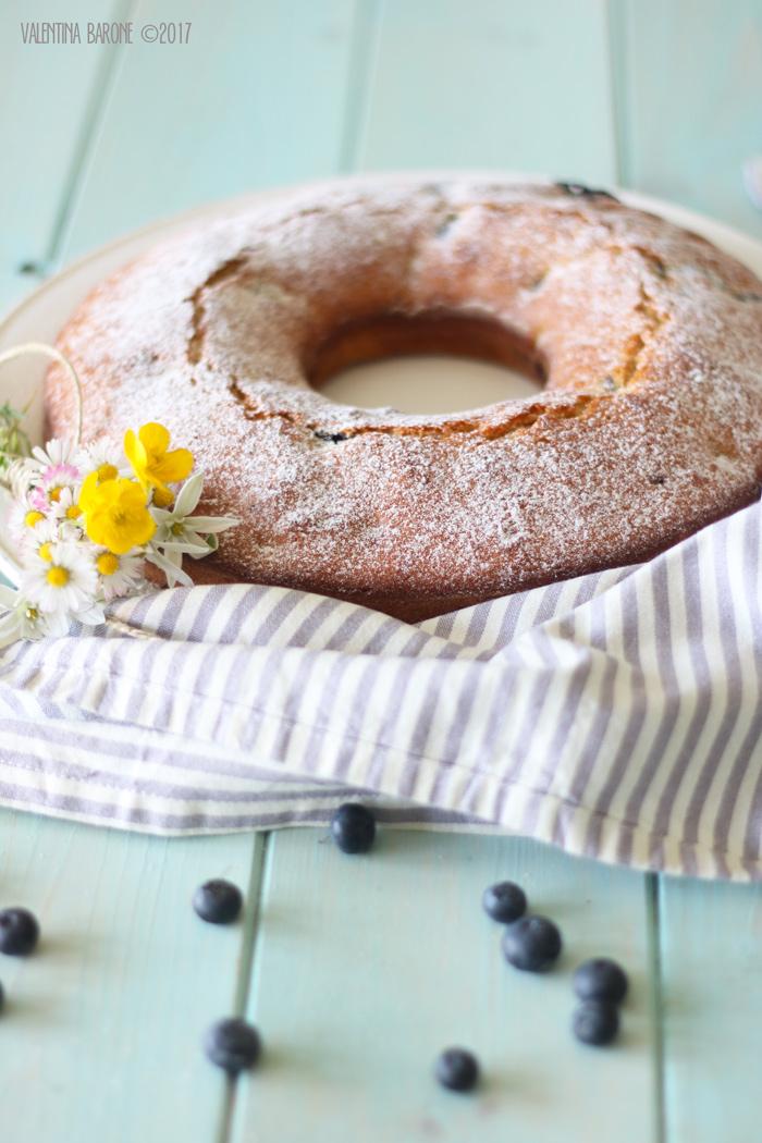 torta senza burro alla ricotta e mirtilli