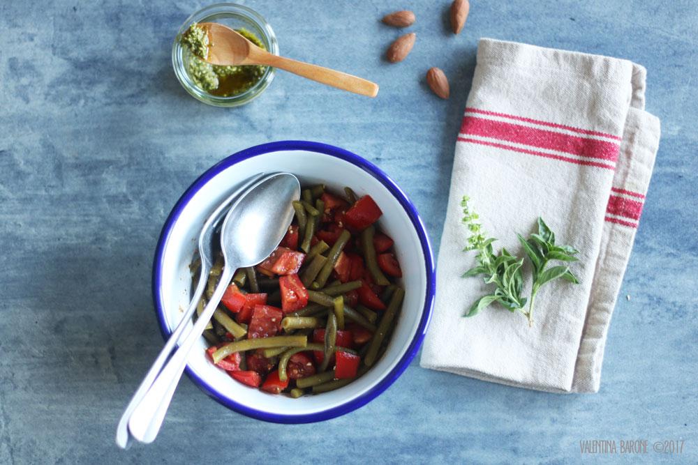 insalata_fagiolini_pomodori_pesto